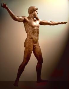 poseidon, em bronze, cerca de 460 a.C.