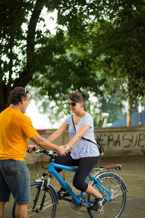 quanta pessoas você já ensinou a andar de bicicleta?