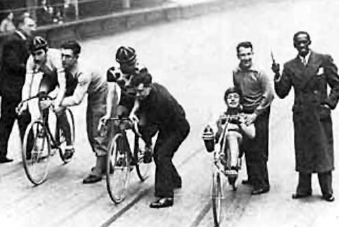 fauré em sua primeira corrida, em 1933