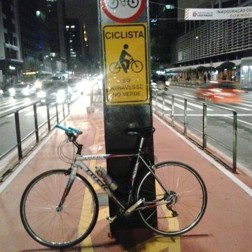 minha trek na ciclovia da avenida paulista, amais combatida de todas!