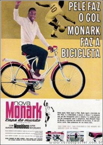 Plé em publicidade da Monark nos anos 1960.