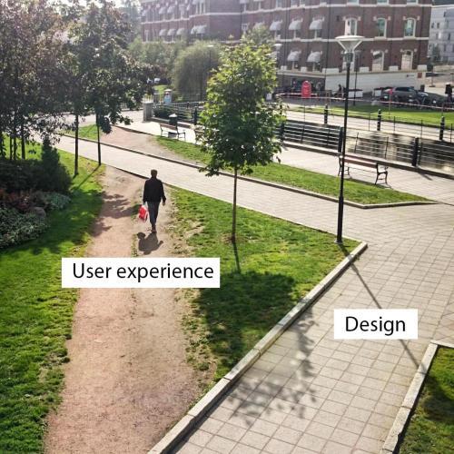 experiência do usuário vs design. design feito por quem não conhece o usuário para quem projeta.