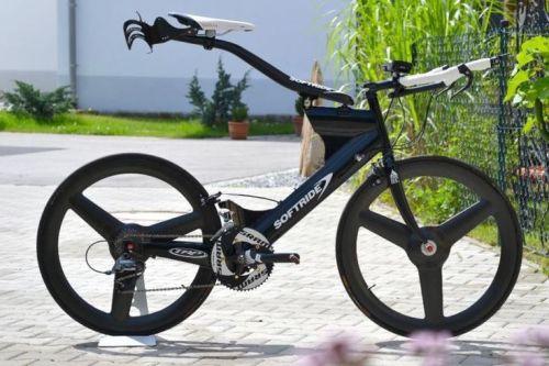 Sofride: extremamente aerodinâmica, legal só em alguns triathlons.